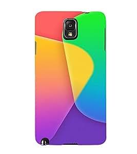 PrintVisa Color Block Pattern 3D Hard Polycarbonate Designer Back Case Cover for Samsung Galaxy Note 3