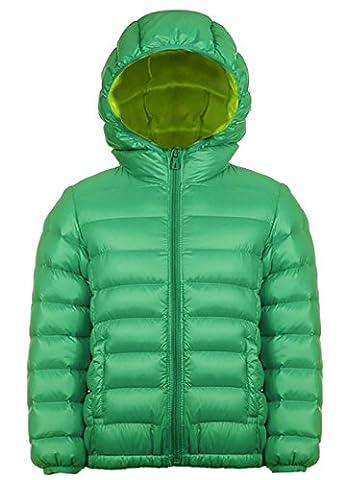 Mädchen Outdoor Daunenjacke Sweatjacke Daunen Jacke winter kälteschutz Grün 140