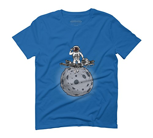 spaceman djing Men's Graphic T-Shirt - Design By Humans Royal Blue