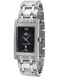 gino franco Men's 926BK Stainless Steel Bracelet Watch