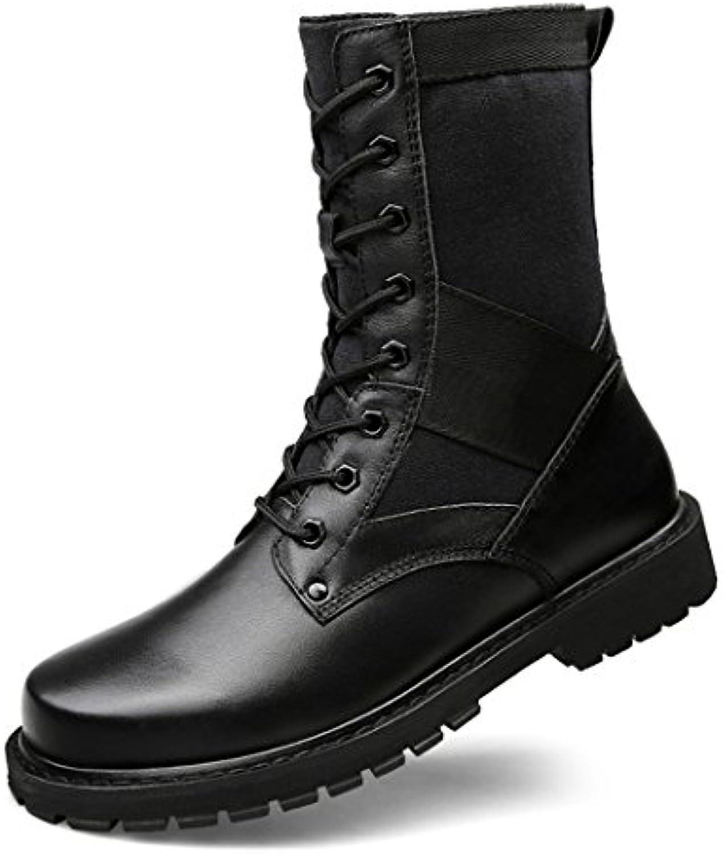 ZQ@QXEuropa y los Estados Unidos los zapatos de los hombres Añadir Botas de algodón, algodón de altura botas de...