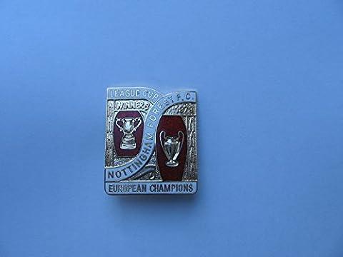 Nottingham Forest vintage, à collectionner, émail vainqueurs 1979Mint Condition Édition limitée, d'une véritable pièce d'histoire badge à épingle vendus par