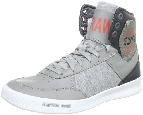 G-STAR YARD Skimmer Jersey GS62447 Damen Sneaker Grau (Mid Grey Leather & Textile 455)