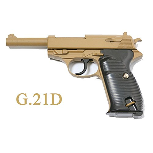 Galaxy Airsoft Type Walther P38 Désert Afrikakorps Full Metal à Ressort Full Metal à Ressort/Spring/Rechargement Manuel (0.4 Joule)