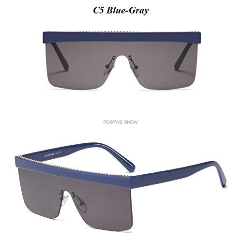 YLNJYJ Randlose Quadratische Frauen-Sonnenbrille-Punkwindschutz-Im Freiensonnenbrille-Weinlese-Art- Und Weisebrillen-Dame Shades Oculos