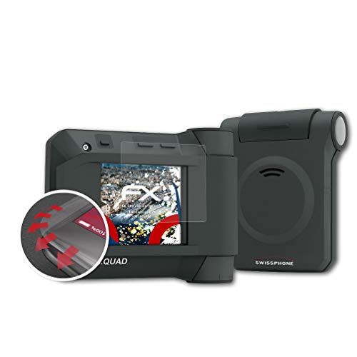 atFoliX Schutzfolie passend für Swissphone s.Quad X35 Folie, entspiegelnde und Flexible FX Displayschutzfolie (3X)