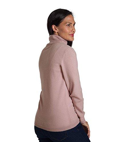 WoolOvers Pull à col roulé ajusté - Femme - Cachemire & Mérinos Chalky Pink