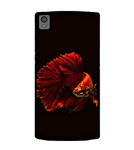 Printtech Unique Fish Shockproof Case Back Cover for OnePlus X