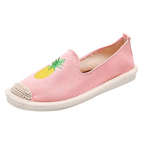 Fenverk Damen Halbschuhe | Slip-Ons Freizeit | Flach Bequeme Slipper Flats Turnschuhe Sneaker Gr. 35-40(40 EU,40 EU) Double Strap Ankle Boot