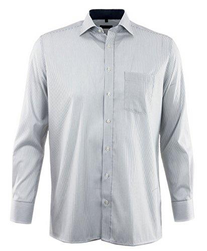 eterna -  Camicia classiche  - A righe - Classico  - Uomo Grau