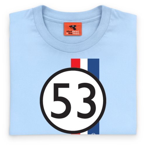 PistonHeads Herbie T-Shirt, Herren Himmelblau
