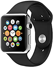 E-Quick Unisex A1 Bluetooth 4g Smart Watch for All Smartphones(Silver,A1_SMARTWATCH_88)