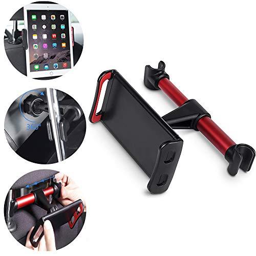 OurLeeme 360 ° de rotación de la Almohadilla del Coche Trasero 4-11 Pulgadas Tablet PC Phone sostenedor del Soporte de Montaje para el iPhone X 8 Mini iPad Tablet, Rojo