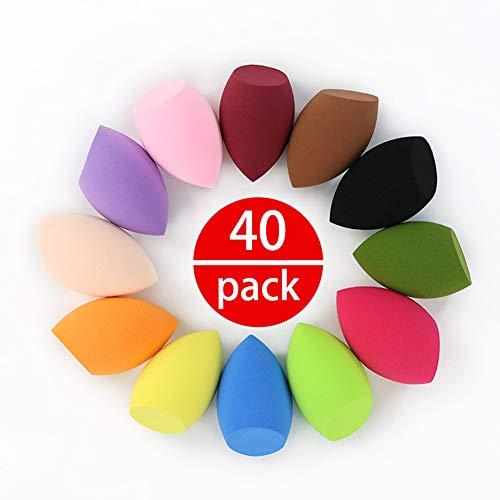 QINEOR Spugnetta per Trucco Beauty Blender Spugnette Make Up, per Trucco Puff Blush Crema Cipria Set, Correttore Illuminante Viso Contouring Kit Accessori,A8