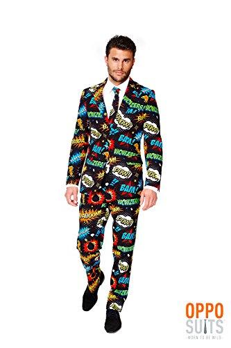 Männer Kostüme Comic (Opposuits Anzug Mr. Comic L)