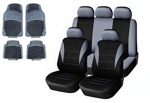 13-pcs-grey-universal-car-seat-covers-mats-set-washable-airbag-compatabile-ford-fiesta-focus-mondeo-