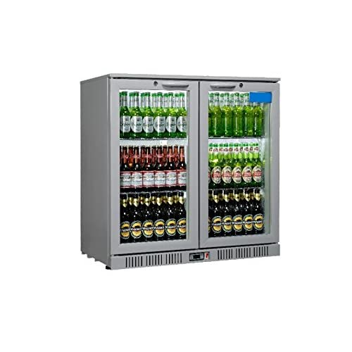 417ENVaZ4lL. SS500  - Sterling Pro SP2BC-SH Double Door Back Bar Cooler, 180 Bottle, Grey/silver
