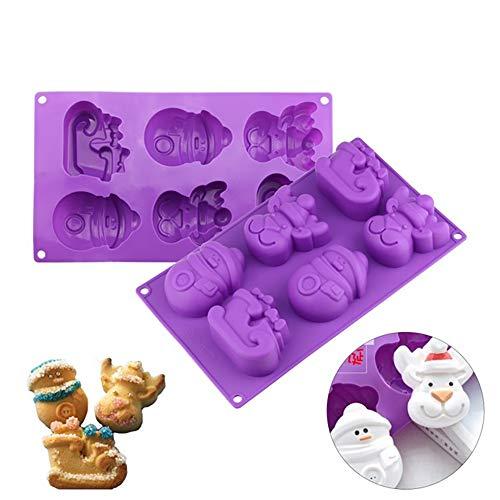 Stil Silikonform Muffinkuchenbackform Kuchenform perfekt, Kuchen Kind sicher und einfach Tablett Schneemann Charakter zu reinigen ()