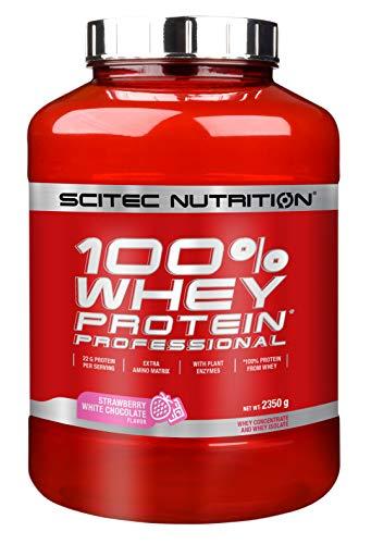 Scitec Nutrition Protein 100{2f18422d127b24507e7fe6c4e83e7616ffb63f3452e37974ac83757584345c8f} Whey Protein Professional, Erdbeer-Weiße Schokolade, 2350g