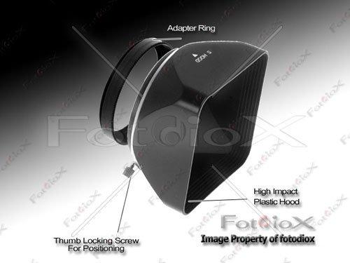 fotodiox video/fotocamera medio formato paraluce, tenda da sole, 67mm nero [fotocamera]