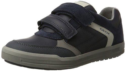 Geox Jungen J Arzach Boy A Sneaker, Blau (Navy/Grey), 35 EU