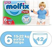 حفاضات أطفال كبيرة جدًا ومريح مضاد للتسرب من مولفيكس، 15 – 22 كجم، 42 قطعة