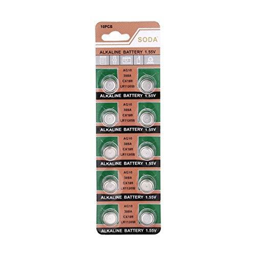 Noradtjcca 10 Teile/Paket AG10 LR1130 389A LR54 L1131 189 Alkalische 1,5 V Knopfzelle für Uhr Uhr Förderung