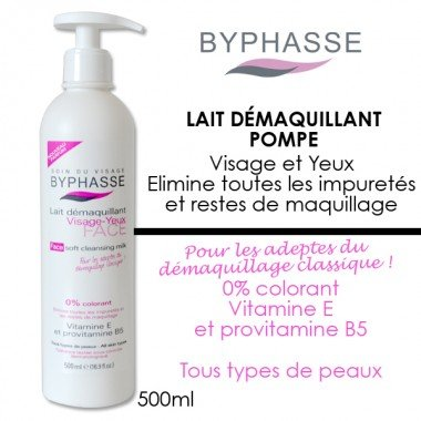 Byphasse - Lait démaquillant pompe 500ml