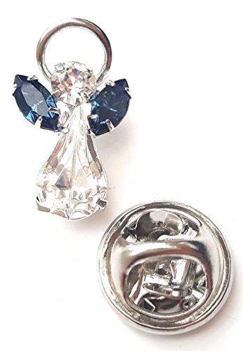 Kristall Elements Geburtsstein Schutzengel Pin-aus mit Swarovski Kristalle-Dezember blauer Zirkon (Schutzengel-pin)