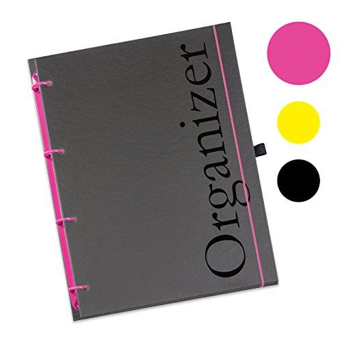 Schaar-Design flexiNotes® ORGANIZER A4 nachfüllbar, Buchkalender 2018, 1 Woche auf 2 Seiten als Planer Typ: A4, ,,Organizer', Farbe:Pink, Papier:Organizer Basic - Wochenkalender - Ring L (Planer Pink-organizer)