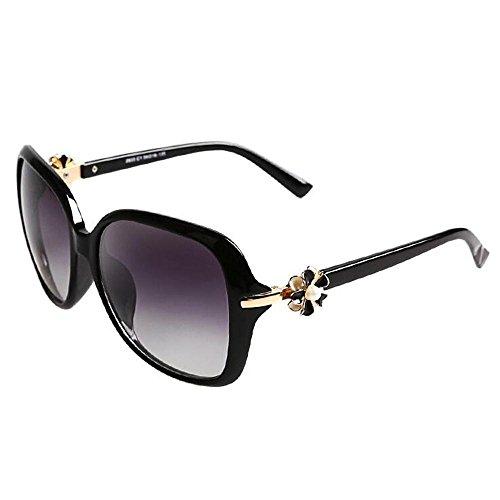 Sonnenbrillen Polarisierte Sonnenbrille Weibliche Elegante runde Gesicht großes Box Fashion Rose Anti - UV-Sonnenbrillen Tide Schütze Deine Augen (Farbe : E)