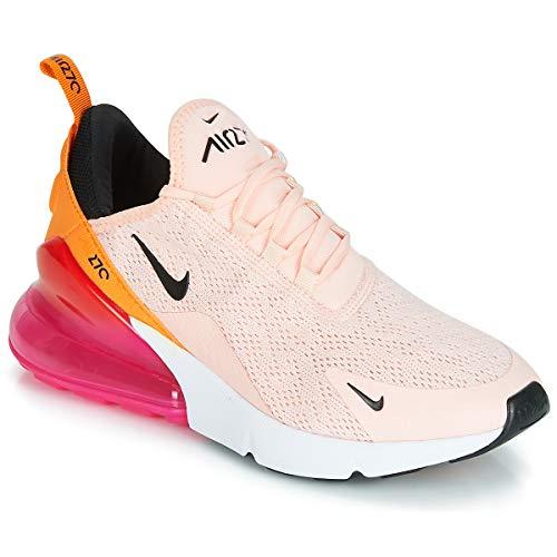 Nike Damen W Air Max 270 Leichtathletikschuhe, Mehrfarbig (Washed Coral/Black/Laser Fuchsia 000), 38 EU Fuchsia Damen Schuhe