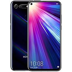 Honor View 20 Smartphone débloqué 4G (6,4 pouces, 6Go RAM, 128Go ROM, Double Nano SIM, Android P) Noir - [Version française]