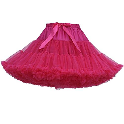 FOLOBE Erwachsene luxuriöse weiche Chiffon Petticoat Tüll Tutu Rock Damen Tutu Kostüm Petticoat Ballett Tanz - Echte Schnelle Kostüm