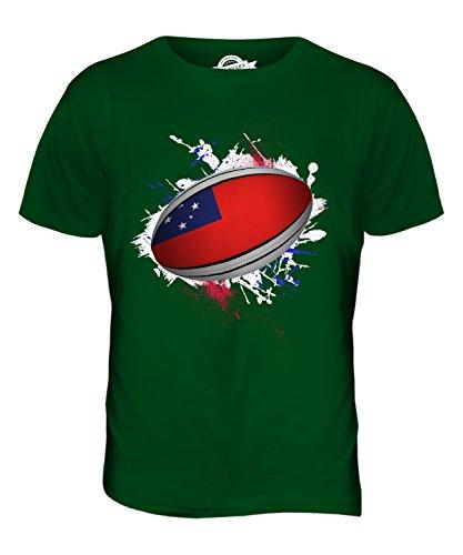CandyMix Samoa Rugby Ball Herren T Shirt Flaschengrün