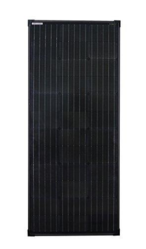 enjoysolar® monokristallines 100W FULL BLACK Solar Modul Mono 100W 12V Solar Panel ideal für Wohnmobil, Gartenhäuse, Boot neueste Edition mit 156mm Zellen Abmessung 1190 * 510 * 35mm (Solarzellen 100 Watt)