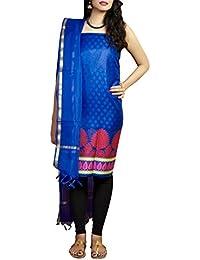 Gleamberry Women's Banarasi Handloom Kora Silk Dress Material Set