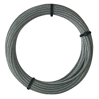 Stahlseil 3/4mm x 10m Stahlseil ummantelt Drahtseil