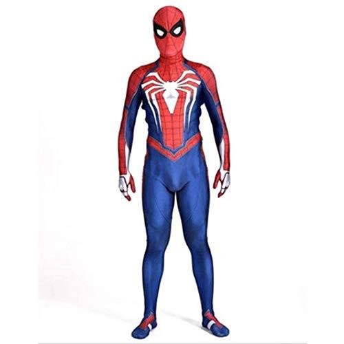 YIWANGO Überraschung Spiderman Männlich Halloween Party Performance Rollenspiel Kostüm Weiß Cosplay Bürgerkrieg Spiderman Strumpfhose,XX-Large (Männliche Rollenspiel Kostüme)