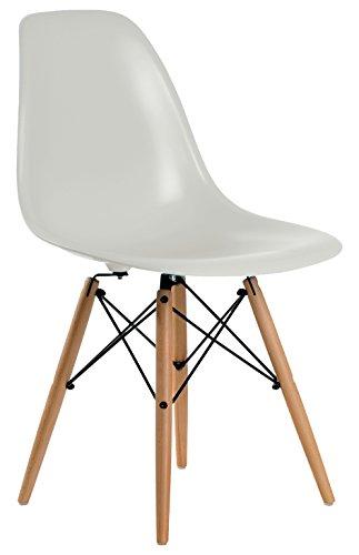 Aryana Home Eames Replik U2013 Set Stühle, 51 X 46,5 X 81,5 Cm 51x46.5x81.5 Cm  Grau