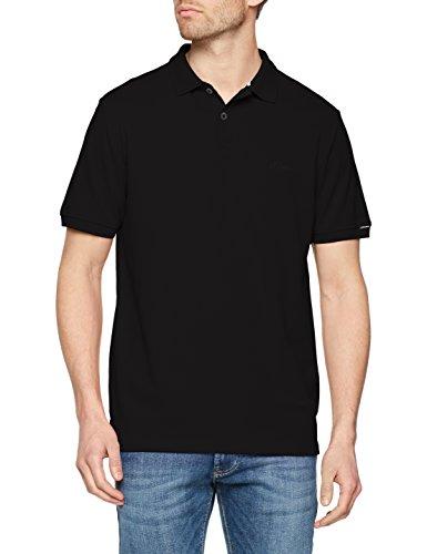 s.Oliver Herren Poloshirt 03.899.35.4505, Schwarz (Black 9999), XX-Large