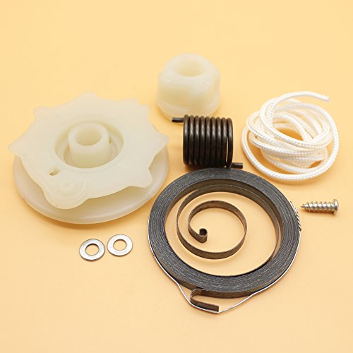 Avviamento a strappo puleggia Spring Hub kit di riparazione corda motosega Husqvarna 137142e 235236240e parti