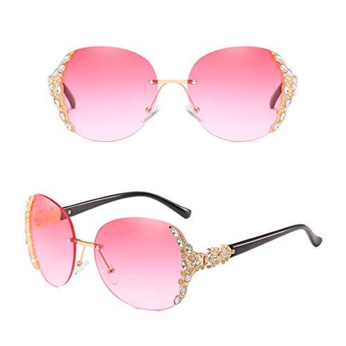 Yanhonin Sonnenbrille für Damen, breite Brille, Ornament für das Gesicht 3