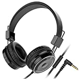 Baseman Stereo Wired Folding Headphones Heavy Bass Lightweight On-ear Headset with Microphone for iPhone Cell Phones Laptop Tablet Mp4 Mp3 Macbook PC