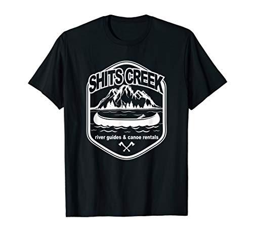 Lustige Shits Creek River Guides Und Kanu Verleih im Freien T-Shirt -
