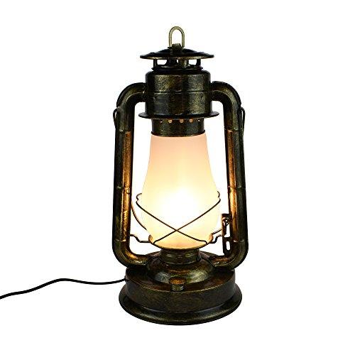 E27clásico retro de kerosin de farol lámpara Estudio Dormitorio Noche chino antiguo Salón Lámpara de mesa