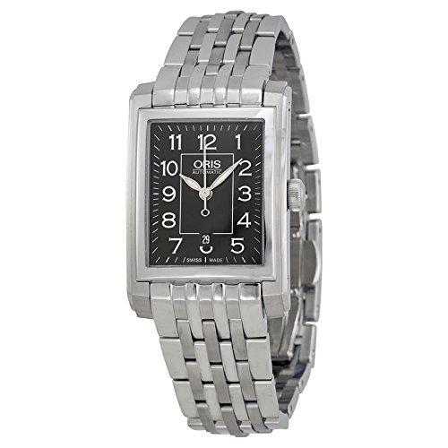 Oris Black Dial Stainless Steel Ladies Watch 561-7656-4034MB