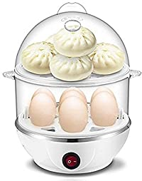 CPEX 2 Layer Electric 14 Egg Poacher Steamer Cooker Boiler Fryer For Egg With Measuring Cup & Bowl