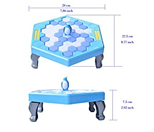 Penguin Trap Board Game Ice Breaking Save the Penguin Kids Early Education Board Game Toy-Penguin Trap Activate Mini Table Game-HOWATE
