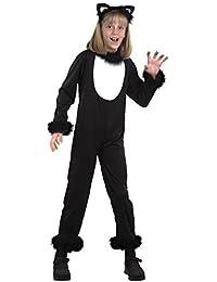 Enfants Garçons Filles Chat Noir Catsuit Animal Halloween Déguisement Costume Tenue 2-14 an